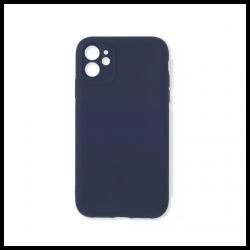 Cover morbida in silicone per Apple iPhone 11 con 3D camera blu