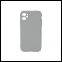 Cover morbida in silicone per Apple iPhone 11 con 3D camera grigio