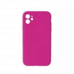 Cover morbida in silicone per Apple iPhone 11 con 3D camera fucsia