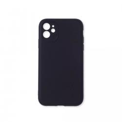 Cover morbida in silicone per Apple iPhone 11 nero con 3D camera