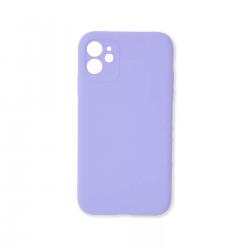 Cover morbida in silicone per Apple iPhone 11 con 3D camera viola