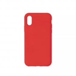 Cover morbida in silicone per Apple iPhone X e iPhone XS rosso