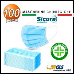 100 Mascherine Chirurgiche TIPO II >98% Sicura Made in Italy dispositivo medico