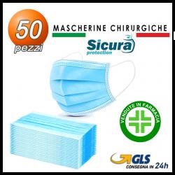 50 Mascherine Chirurgiche TIPO II >98% Sicura Made in Italy dispositivo medico