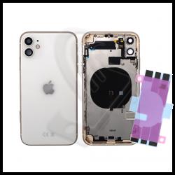 Scocca posteriore con flex per Apple iPhone 11 bianco