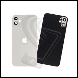 Vetro back cover posteriore con lente per Apple iPhone 11 bianco