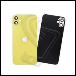 Vetro posteriore con lente fotocamera back cover giallo per Apple iPhone 11