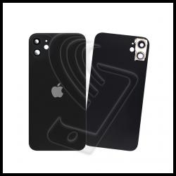 Vetro scocca posteriore nero iPhone 11 completo con lente fotocamera