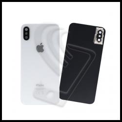 Vetro scocca posteriore bianco per Apple iPhone XS back cover con lente