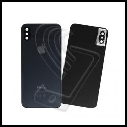 Vetro scocca posteriore grigio siderale con lente per Apple iPhone XS