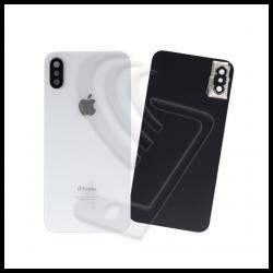 VETRO POSTERIORE SCOCCA iPhone XS Max + LENTE FOTOCAMERA Argento